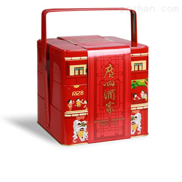 三层食品手提箱