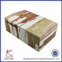 手工木纹折叠礼品盒